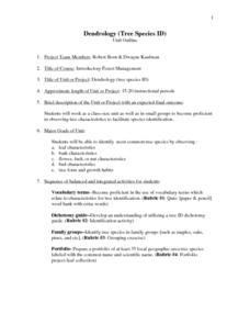 Dendrology Lesson Plan