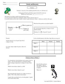 Density and Buoyancy Worksheet