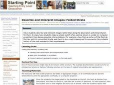 Describe and Interpret Images: Folded Strata Lesson Plan