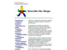 Describe the Shape Lesson Plan