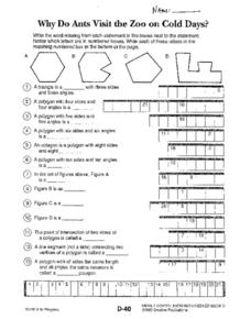 Describing Polygons Worksheet