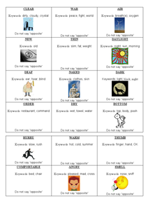 Describing Words Worksheet