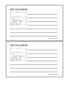 Desert Did You Know Cards Worksheet