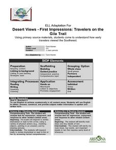 Desert Views: First Impressions Lesson Plan