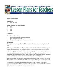 Desert Xeriscaping Lesson Plan