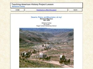 Deserts, Plains, and Mountains; oh my! Westward Migration Lesson Plan