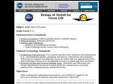 Design of Airfoil for Given Lift Lesson Plan