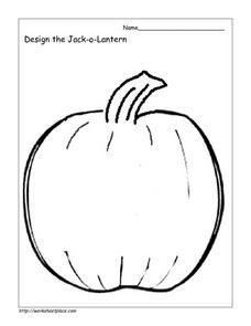 Design the Jack-O-Lantern Worksheet