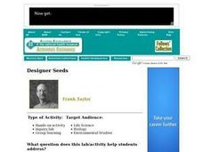 Designer Seeds Lesson Plan