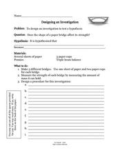 Designing An Investigation Lesson Plan