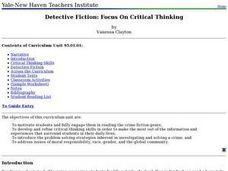 Detective Fiction: Focus On Critical Thinking Lesson Plan