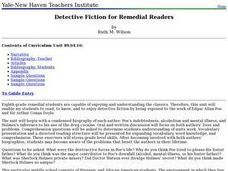 Detective Fiction for Remedial Readers Lesson Plan