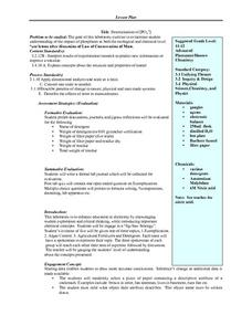 Determination of Phosphates Lesson Plan
