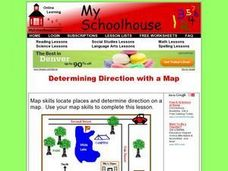 Determining Direction With A Map- Online Interactive Worksheet