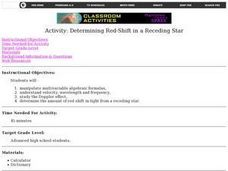 Determining Red-Shift in a Receding Star Lesson Plan