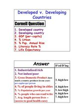Developed v. Developing Countries Lesson Plan