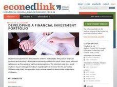 Developing a Financial Investment Portfolio Lesson Plan