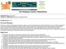 Developing Country Simulation Lesson Plan