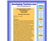 Developing Grammar Lesson Plan