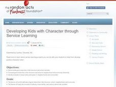 Developing Kids with Character through Service Learning Lesson Plan
