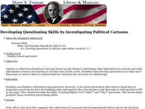 Developing Questioning Skills by Investigating Political Cartoons Lesson Plan