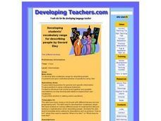 Developing Students' Vocabulary Range for Describing People Lesson Plan