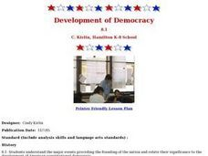 Development of Democracy:  American Revolution Lesson Plan