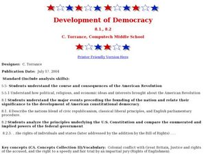 Development of Democracy Lesson Plan