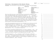 development of atomic theory worksheet Printables of Worksheet Development Of Atomic Theory - Geotwitter ...