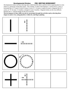 Developmental Strokes: Pre-Writing Worksheet Pre-K - 1st Grade ...