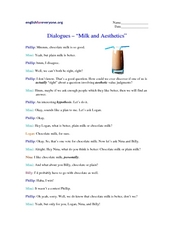 "Dialogues- ""Milk and Aesthetics"" Worksheet"
