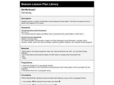 Did We Know? Lesson Plan