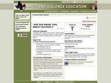Did You Know This About Alcohol? Lesson Plan