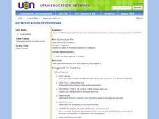 Different Kinds of Child Care Lesson Plan