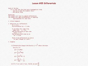 Differentials Lesson Plan