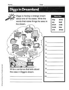 Diggs in Dreamland Worksheet