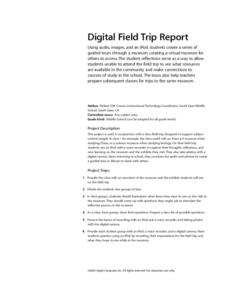 Digital Field Trip Report Lesson Plan