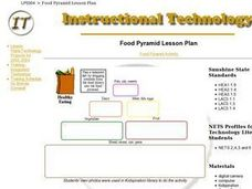 Digital Food Pyramid Lesson Plan