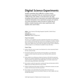 Digital Science Experiments Lesson Plan
