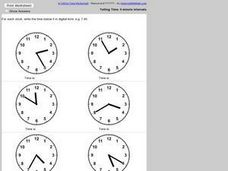 Digital time Worksheet