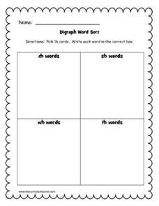 Word Sort Worksheets For Kindergarten