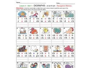 Digraphs: Ch, Sh, Th and Wh Worksheet