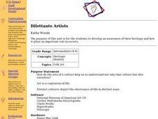 Dilettante Artists Lesson Plan
