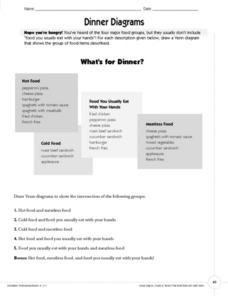Dinner Diagrams Worksheet