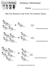 Dinosaur Addition Worksheet
