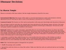 Dinosaur Decisions Lesson Plan
