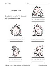 Dinosaur Dots Lesson Plan