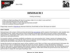 Dinosaur I Finding And Dating Lesson Plan