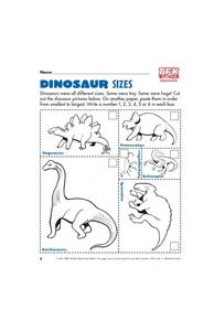 Dinosaur Sizes Lesson Plan