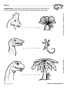 Dinosaurs and Their Food Worksheet